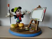 Extremely Rare Walt Disney Mickey Mouse As Painter Big Figurine Statue