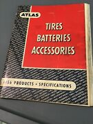 Vintage 1956 Atlas Tires Batteries Accessories Specifications Manual Standard Ad