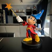 Extremely Rare Walt Disney Mickey Mouse Fantasia With Staf Big Figurine Statue