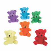 Bright Stuffed Bears - Toys - 12 Pieces