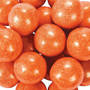 Large Shimmer Orange Gumballs - Candy -97 Pieces