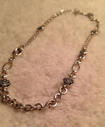 """Vintage Lois Hill 925 Sterling Silver Chain Necklace Mix Chain 18"""" Long"""