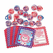 Valentine Pill Puzzle Ring Fun Favors With Cards - Jewelry - 324 Pieces