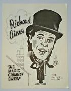 Richard Aimes Caricature 1988 The Magic Castle Walls Of Fame Book Ted Salter