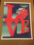Rolling Stones Poster Numbered Love Philadelphia Pa Lithograph Print No Filter