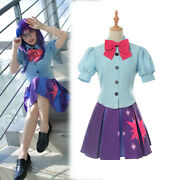 My Little Pony Twilight Sparkle Cosplay Costume Outfit Student Uniform Full Set
