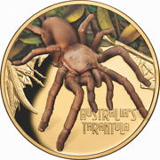 Niue 2020 Deadly And Dangerous Tarantula Spider 100 1 Oz Pure Gold Color Proof