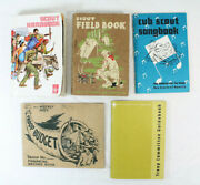 5 Vintage Boy Scout Books Songbook Field Book Hand Book Record Book Guidebook