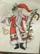 Designs For The Needle Father Christmas Cross Stitch Kit 14 X 17 1981