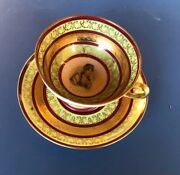 Cup / Under Cup Porcelain In The Style Sevres Josephine Of Beauharnais