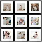 12x12 Picture Frame For Wall 12 X 12 Square Black Wood Frames With Photo Mat