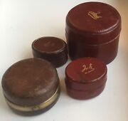 A Collection Of Four Antique Travelling Inkwell Of Different Shapes And Sizes