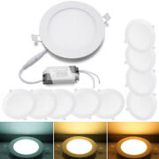 10 Pcs - 9w 12w 15w 18w 24w Led Recessed Ceiling Panel Down Lights Lamp Fixtures