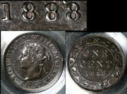Nice Collection - Canada Large Cent - 1888 - Middle 8 Bead Punch - Au B675