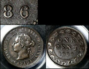 Nice Collection - Canada Large Cent - 1886 - Triple Punched 6/6/6 - Ef+ 664