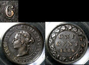 Nice Collection - Canada Large Cent - 1886 - Triple Punched 6/6/6 - Au B662