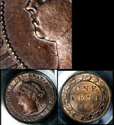 Nice Collection - Canada Large Cent - 1884 - O2 Die Clash 4 Under Chin Au B653