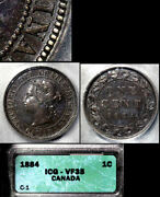 Nice Collection - Canada Large Cent - 1884 - Obverse1 - Aef B651