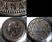 Nice Collection - Canada Large Cent - 1882h Single Serif N - Au 644