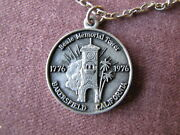 Beale Memorial Clock Tower Kern County American Bicentennial Pendant And Chain Ex