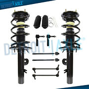 Front Strut W/coil Spring Sway Bar Tie Rod Boot Kit For 2010 2011 2012 Ford Flex