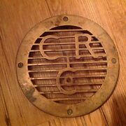 Rare C.r.co Advertising Antique Solid Brass Trivet Vintage Old Drain Embossed A1
