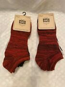 Men's Hanes Knitting Co Super Low No Show Socks Size 6-12 Red Gray Black 6 Pair