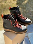 Feit Menand039s Bamboo Military Hiker Boots Black/red Size 41 8 Us Brand New