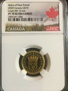 2020 10 Pure Gold Coin Relics Of New France Louis Xiv Sol - Ngc Pf70