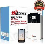 Hiboost 4k Plus Cell Phone Signal Booster With Built-in Antenna For Home Office