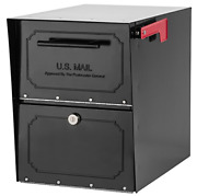 Architectural Mailboxes 6200b-10 Oasis Classic Locking Post Mount Parcel With X