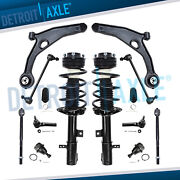 14pc Front Struts Lower Control Arms Kit For 07-09 Sebring 08-14 Avenger 2.4 Fwd