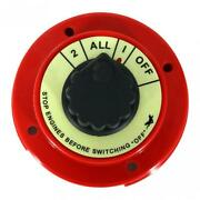 Marine Boat 4-way Battery Selector Switch For Two Batteries - Dc 6-32v -