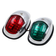2x Green And Red Boat Bow Navigation Light Marine Led Bass Boat Kayak For Marine