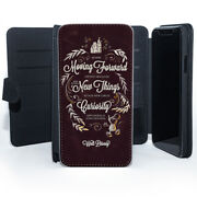 Keep Moving Forward Disney Quote Mickey Mouse Wallet Leather Phone Case Cover