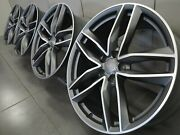 20 Inch Wheel Rim Set Original Audi A6 S6 C7 4g Allroad 4g9601025n Alloy Wheels