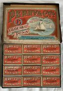 Vintage Box Of Perry And Co Glideaway New Metal Nibs No 404. There Are 12 Small Bo