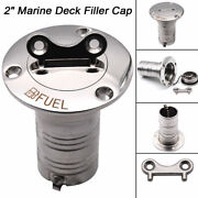 316 Stainless Steel Boat Marine 2 Keyless Cap Gas Fuel Tank Deck Fill Filler