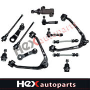 13pc Control Arm Ball Joint Tie Rod Sway Links Kit For Silverado 1500 4x4 6 Lugs