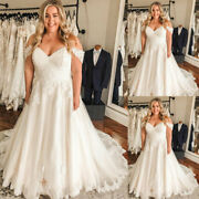 Plus Size Wedding Dresses Off The Shoulder Beach Bridal Gowns A-line Custom Made