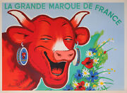 Rabier Vache Qui Rit Cheese Fromage Great French Brand Very Rare Vintage Poster