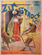 Zym Strock India Tiger Cycles Paris By Wilhio Early Vintage Cycles Poster Amiens