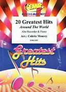20 Greatest Hits Around The World Alto Recorder Piano Emr Classical Music Book