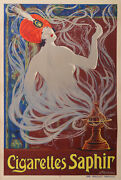 Cigarettes Saphir By Stephano Vintage Poster Printer By Moullot