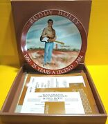 Buddy Holly Plate 1959-1984 25 Years A Legend / 25th W/ Coa Royal Orleans New