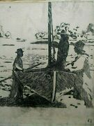 In Manner Of - John Anansa Thomas Biggers - Etching In Need Of Conservation