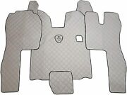Set Floor Mats Grey Carpet Engine Cover Scania R 2004-2013 Manual Truck Gearbox