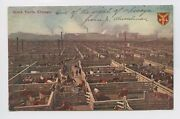Postcard - Chicago, Il - Union Stock Yards - Cattle Pen Corral - Horses Herders