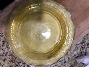 9 Federal Patrician Spoke Amber/yellow Depression Glass Dinner Plates 11