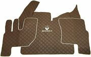 Set Brown Floor Mats Carpet Engine Cover Renault T With Automatic Gearbox